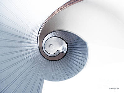 Photograph - Lighthouse Spiral Staircase by Methune Hively