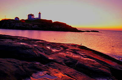 Photograph - Lighthouse Sunrise by Emily Stauring