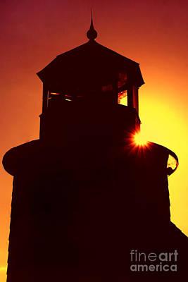 Lighthouse Sunset Art Print by Joann Vitali