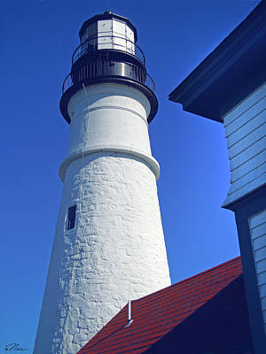 Photograph - Lighthouse Tower by Nancy Griswold