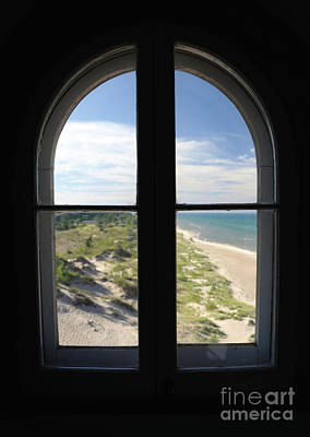Photograph - Lighthouse Window by Ronald Grogan