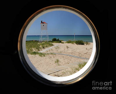Photograph - Lighthouse Window To Lake by Ronald Grogan