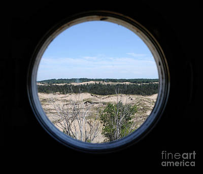 Photograph - Lighthouse Window To Sand Dunes by Ronald Grogan