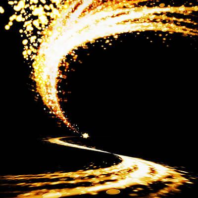 Curves Digital Art - Lighting Explosion by Setsiri Silapasuwanchai