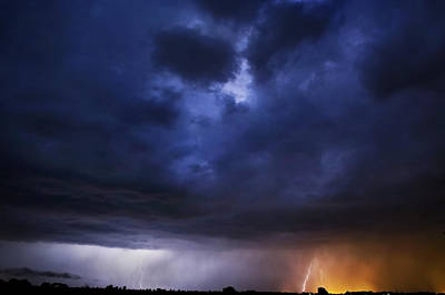 Lightning Bolt Photograph - Lightning 1 by Jennifer Brindley