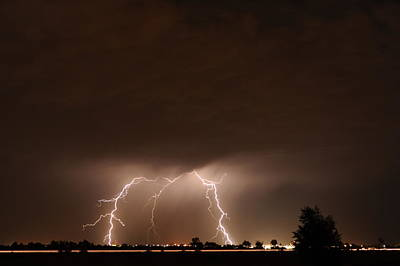 Lightning Bolt Photograph - Lightning 10 by Jennifer Brindley