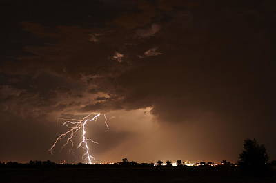 Lightning Bolt Photograph - Lightning 11 by Jennifer Brindley