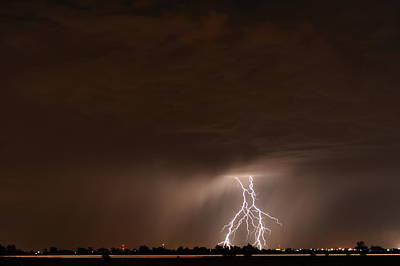 Lightning Bolt Photograph - Lightning 5 by Jennifer Brindley