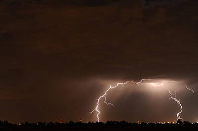 Lightning Bolt Photograph - Lightning 6 by Jennifer Brindley