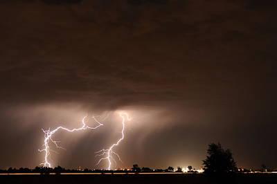 Lightning Bolt Photograph - Lightning 8 by Jennifer Brindley