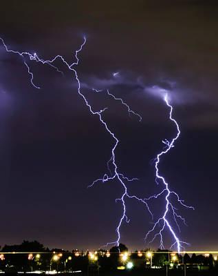 Lightning Photograph - Lightning by Ardeona Photography - Steve Osborne (photographer)