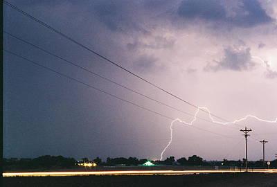 Photograph - Lightning Barn by Trent Mallett