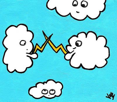 Storm Drawing - Lightning Fight by Jera Sky