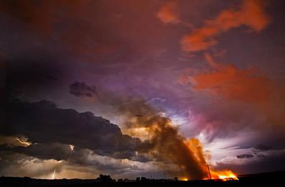 Lightning Photograph - Lightning Fire by Jennifer Brindley