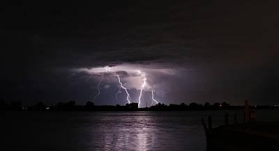 Lightning Photograph - Lightning Flash by Alexander Spahn