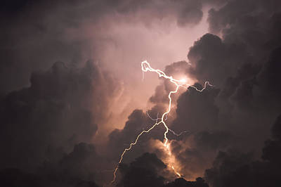 Lightning Man Print by Paul Madura