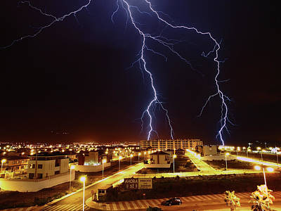 Lightning Photograph - Lightning by Miguel Tarso Photo