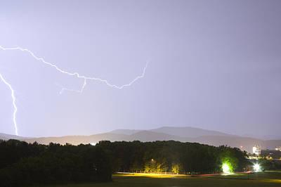Blue Hues - Lightning over Ljubljana by Ian Middleton