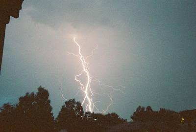 Photograph - Lightning Radio Tower by Trent Mallett