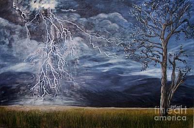 Lightning Strike Art Print by Caroline Street