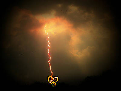 Photograph - Lightning Strikes The Heart by Trish Tritz