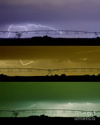 Lightning Warhol  Abstract Art Print by James BO  Insogna