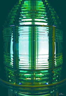 Photograph - Lightouse Lantern At Portland Lighthouse by Nancy Griswold