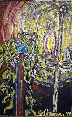 Lightpost Painting - Lightpost by Jenny Saltzman