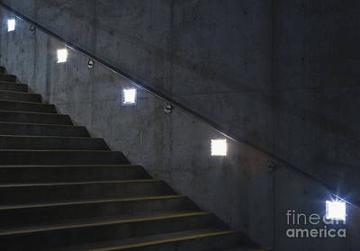 Cement Walkway Photograph - Lights And Stairs by Paul Edmondson