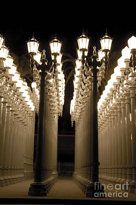 Lights In Art Exhibit In La Art Print by Micah May