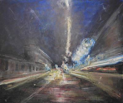 Painting - Lights On Aurelia Way by Mario Genovesi