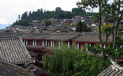 Photograph - Lijiang Rooftops by Carla Parris