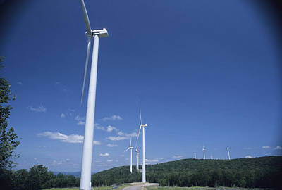 High Technology Devices Photograph - Like Giant Pinwheels, Turbines Spin by Raymond Gehman