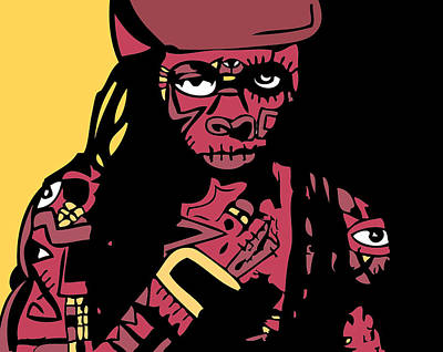 Blackart Digital Art - Lil Wayne Full Color by Kamoni Khem