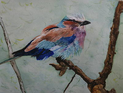Painting - Lilac Breasted Roller by Betty-Anne McDonald