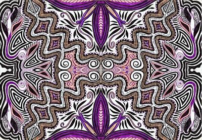 Lilac Drawing - Lilac Garden3 by Samar Asamoah