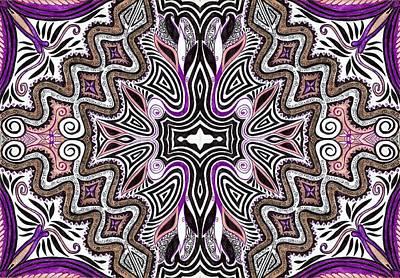 Lilac Garden4 Art Print by Samar Asamoah