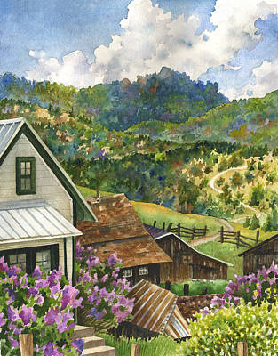 Painting - Lilacs At Walker Ranch by Anne Gifford