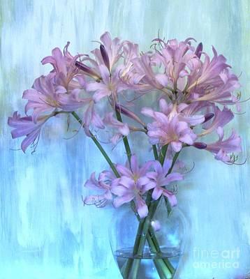 Lilies Pink Art Print by Marsha Heiken