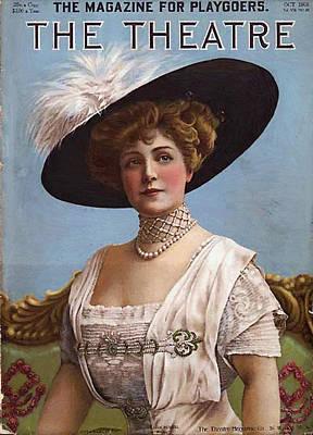 Lillian Russell On Cover Art Print by Steve K