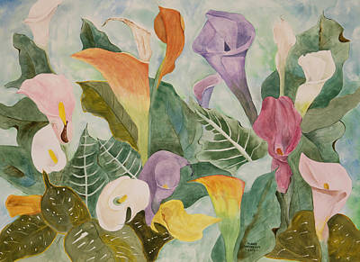 Lillies For Lilly Art Print by Diane Vasarkovy