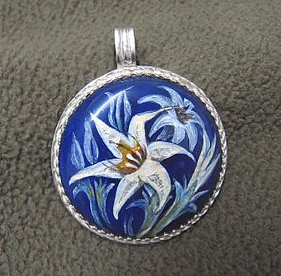 Enamel On Copper Jewelry - Lilly by Asya Ostrovsky