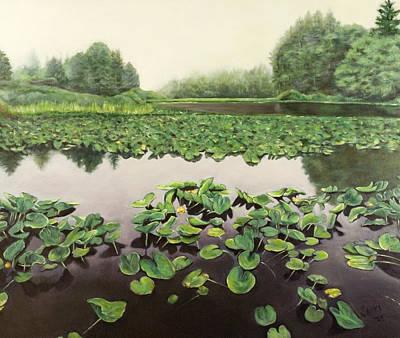 Lilly Pond Dreams Art Print by Lorna Saiki