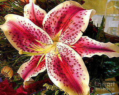 Lily Bouquet Arrangement Art Print by Merton Allen