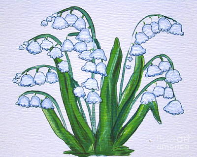 Painting - Lily-of-the-valley In Full Glory by Leea Baltes