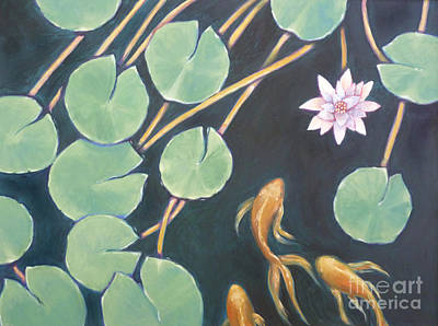 Painting - Lily Pad Pond by Audrey Peaty