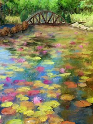 Painting - Lily Pad Pond Painting by Cindy Wright