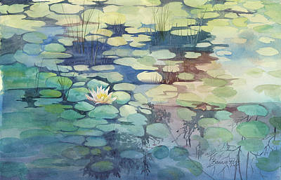 Painting - Lily Pond I by Bonnie Ross