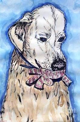 Golden Retriever Mixed Media - Lily's Woopee by DJ Laughlin