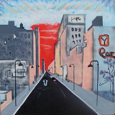 Lima Sunset Art Print